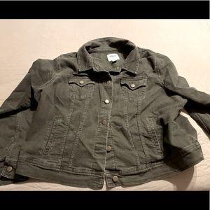 Old Navy distressed black leather jacket XXL